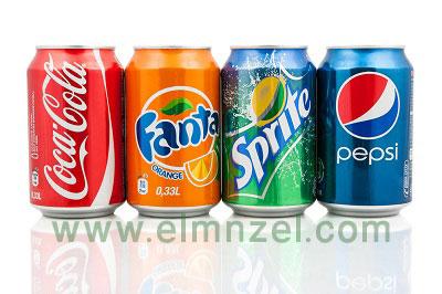 المشروبات الغازية وطرق التنظيف بها